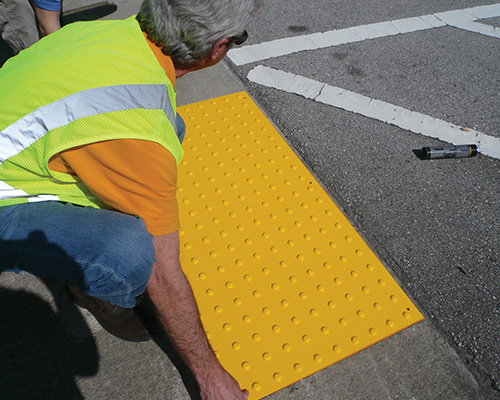 Redimat Surface Applied Detectable Warning Installation