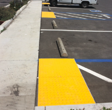 Asphalt parking area